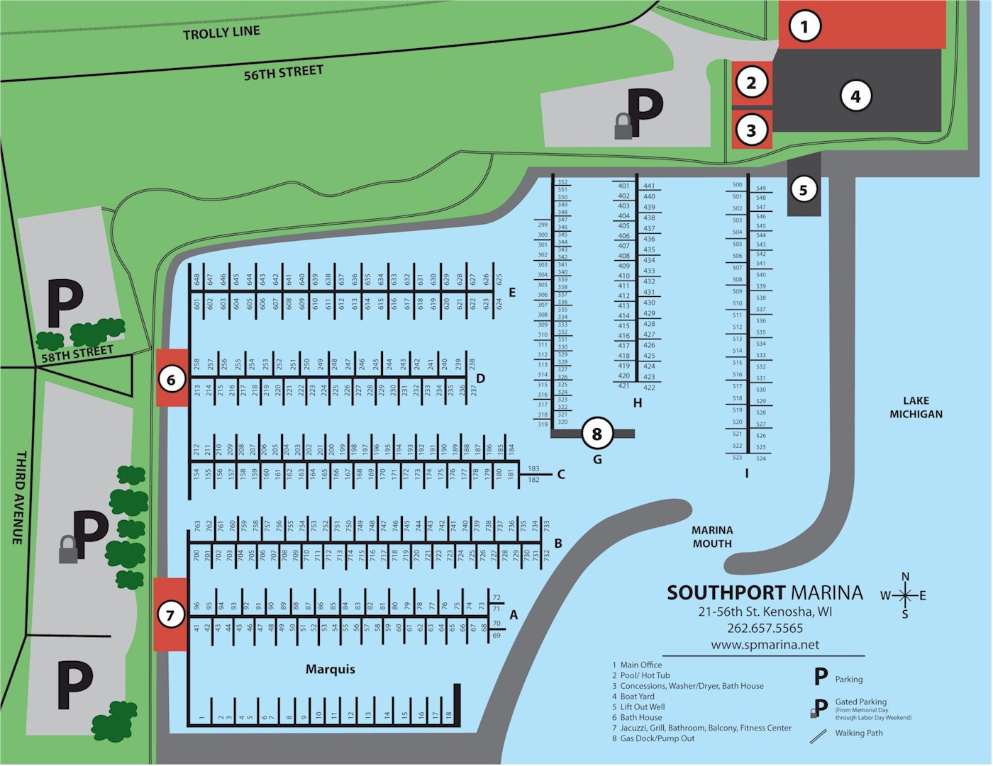 Southport Marina Map